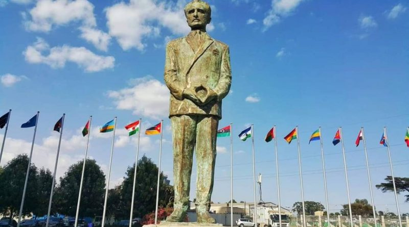 Statue of Haile Selassie Unveiled At AU Headquarters In Addis Ababa