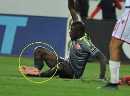 Hideous Moment As Senegal Goalkeeper Khadim Ndiaye Suffers Double Leg-break