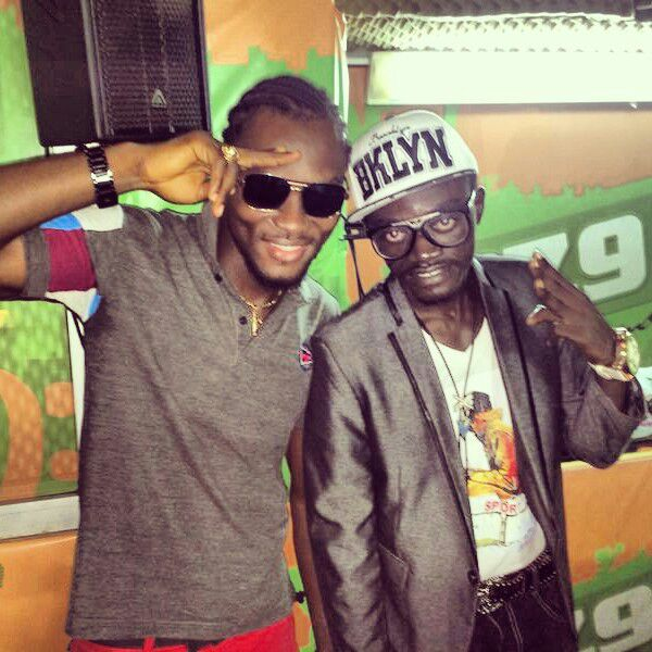 Kwadwo Nkansah with Dancehall artist Sean Taylor