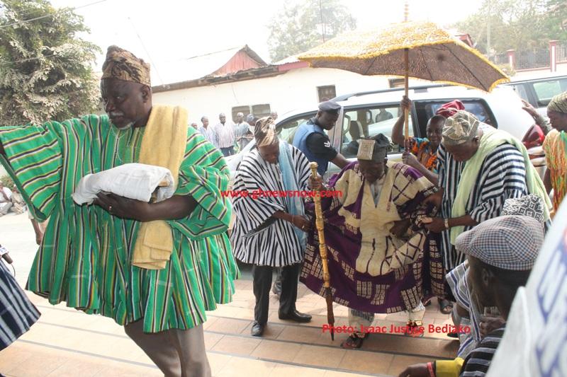 Arrival of  Boligu Mahama Sharigu Paramount Mamprogu Traditional Council  to The Manhyia Palace