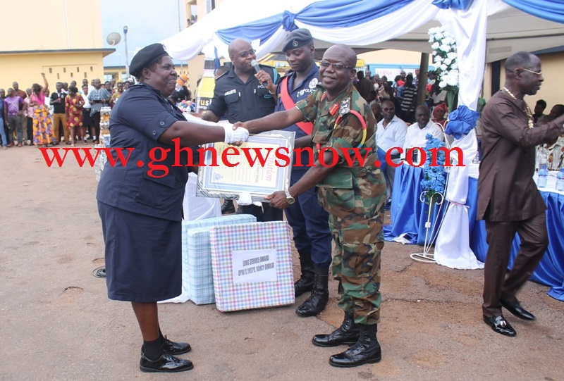 This Police Officer Was Awarded For Her Dedication To Ghana Police Service For The Past 40 years In Active Service