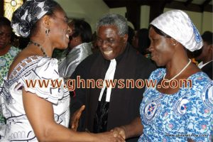 Members of the Woodlawn Assembly welcoming Rev. and Mrs. Frimpong-Manso in 2013