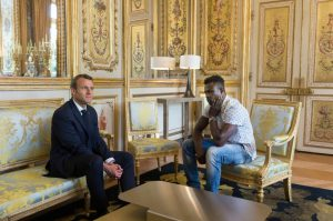Gassama With French President Macron