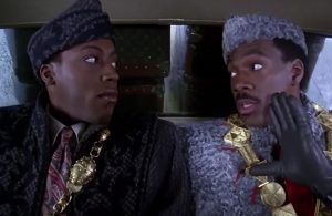 Eddie Murphy (R) with Arsenio Hall in 'Coming To America' Photo Courtesy: WLS-FM